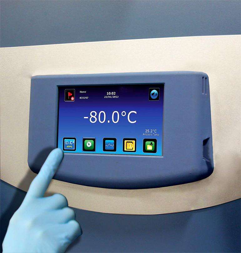 Ultra-Low Temperature Freezer Control Screen